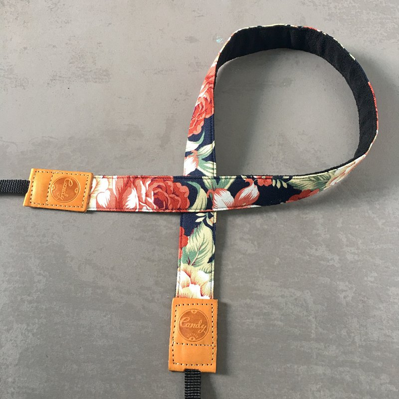 Navy Flora Mirrorless camera Strap