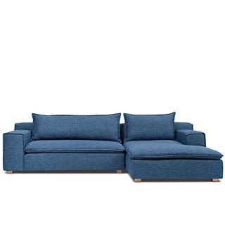 Oslo AJ2 │ │ │ L-type gentleman tile blue sofa