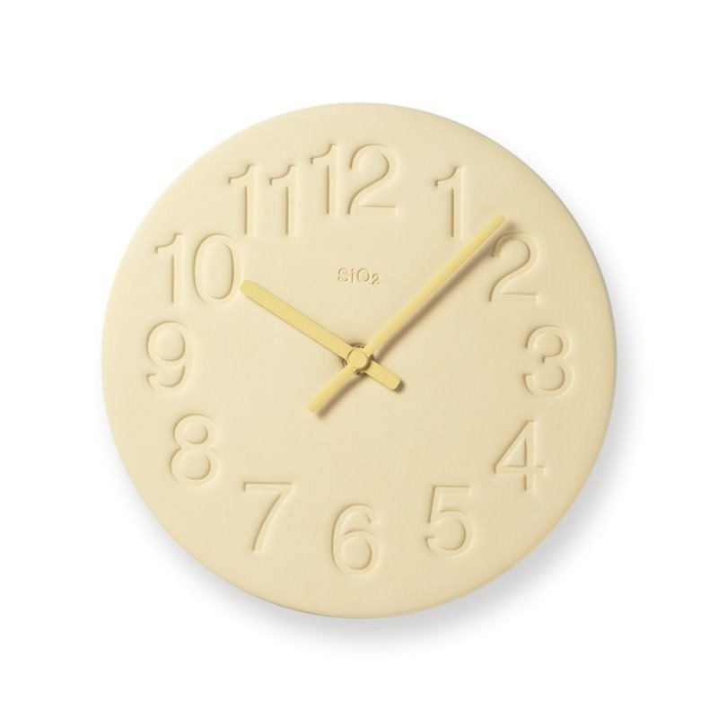 LC11-08 YE Diatomaceous earth clock - yellow