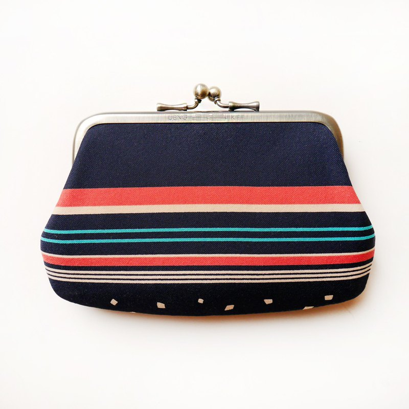 Mid-waist blue long skirt gold bun mother bag / coin purse [made in Taiwan]