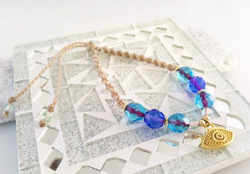 Evil Eye ◆ Remove evil eye protection ◆ French Glass Macrame Breath