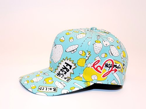 Follow Your Love Printed Baseball Cap Fun Muffin Powder Blue #Valentine #情侣帽