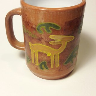 Alpaca hand painted ceramic mug