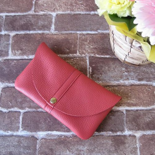 """Globe II"" wallet (plump purse) <salmon pink>"