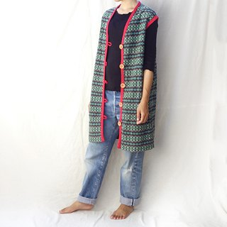 BajuTua / Vintage / 70's South American hand-woven ribbed long vest