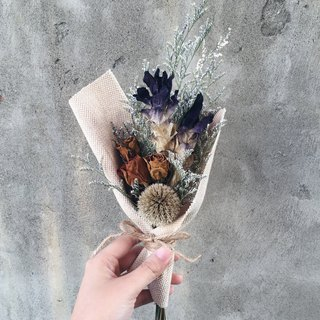 Dried turmeric purple flower bouquet