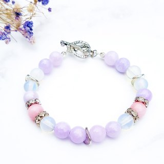 <Psychedelic Love> - Guardian Persian Jade x Peach Chalcedony Bracelet Natural Stone Handmade Minimalist