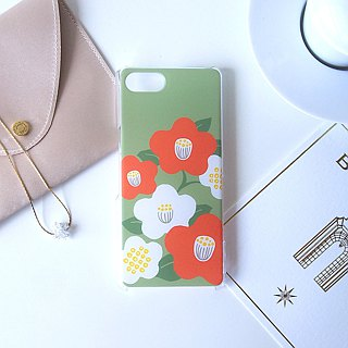Plastic android phone case - Japanese modern camellia -