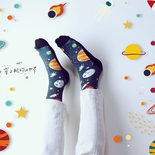 [Small Space]/Sports/Stocking Socks (Black)