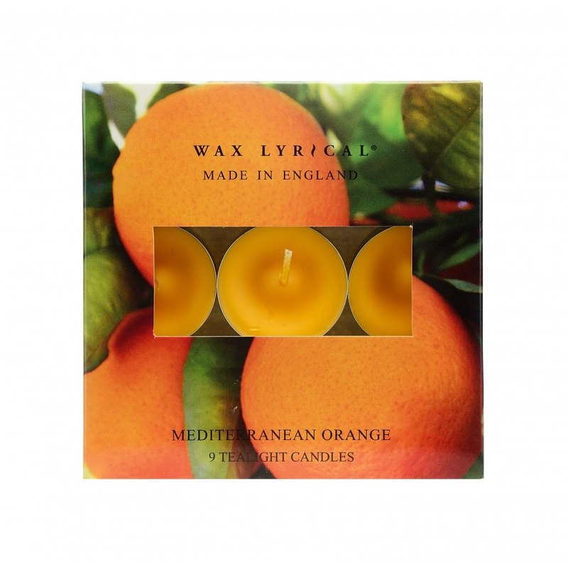 British Candle MIE Series Mediterranean Orange Small Candle 9 In