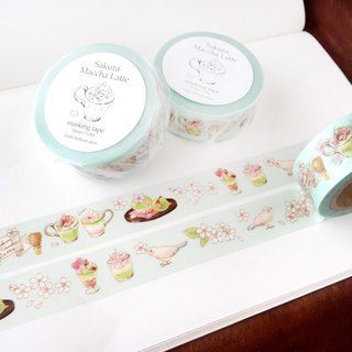 SakuraMacchaLatte Masking Tape Blue color