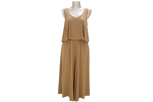 Adult sleeveless wide pants all-in-one <Mocha>