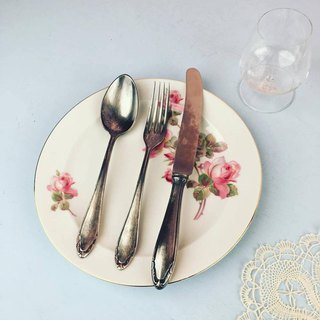 Antique silver plated cutlery set