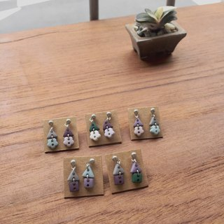 Second-order building - needle clip earrings