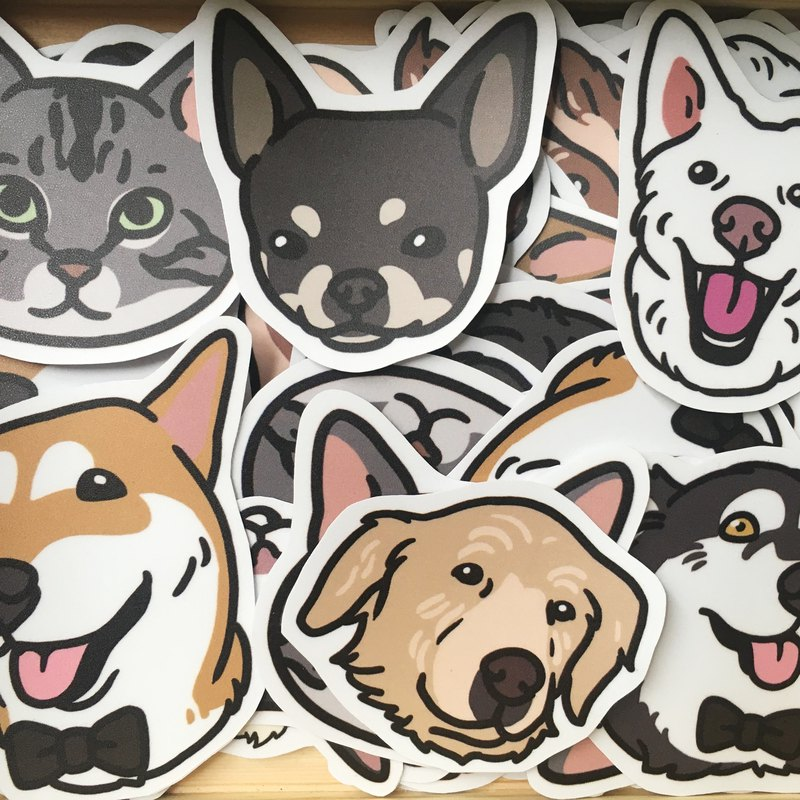 Goody Bag-Limited Cats and Dogs Stickers 10 into random shipments
