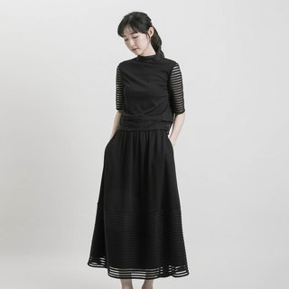 2018 early autumn new product / Dream dream perspective skirt _8AF230_ black