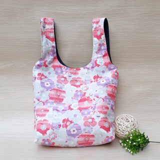 [Green Shopping Bag] Splashing Flowers