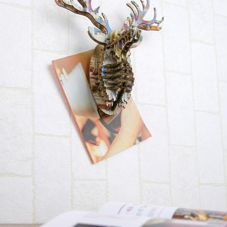 Deer Head / 3D Craft Gift /Stamps style