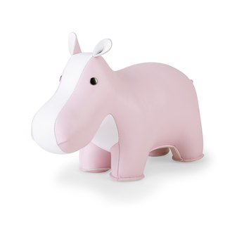 Zuny Pink Charity - Hippo Shaped Animal Paper Town