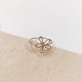 Flower。Ring。Spring。14Kgold / Silver