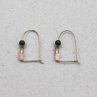 Cherry Blossom Brass Arch Earrings