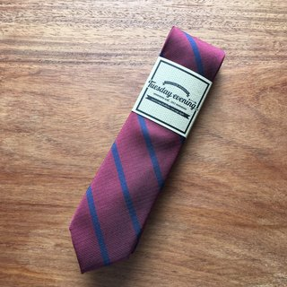 Red Blue Skinny Stripe Tie