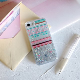 PATTERN LAB | Liquid Glitter Case for iPhone 8/7/6s - Triangles