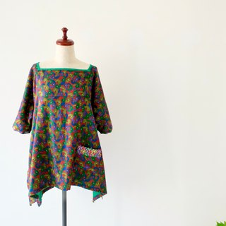 Tunic Dress Square Neck Indian Fabric