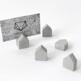 Concrete Magnetic Mini House Magnets