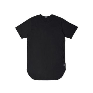 oqLiq - Arc Tank - Black Long Circular T (Black)