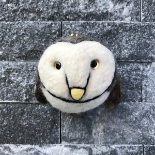 Owl 5 inch three-dimensional wool felt mouth gold package