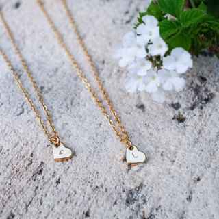 Dainty Initial Heart Necklace