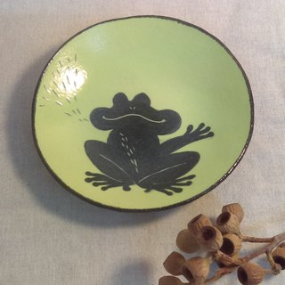 Spot immediately sent!! DoDo hand whisper. Animal silhouette series - frog in the dish (green)