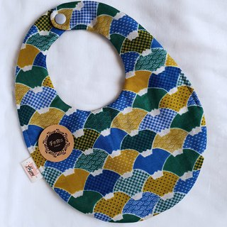 Japanese and handle-gold-eight-layer yarn 100%cotton double-sided egg-shaped bib