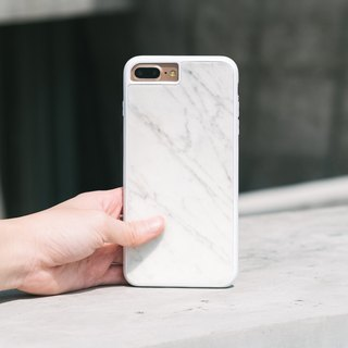 Original White Italian Marble Phone case (iPhone model) with hard shell back case