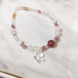 MH sterling silver natural stone custom series _ strawberry garden _ powder crystal