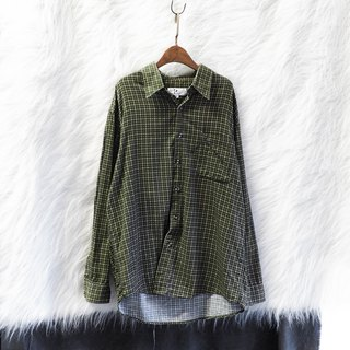 Hyogo green green yellow plaid independent youth age antique cotton shirt jacket coat vintage