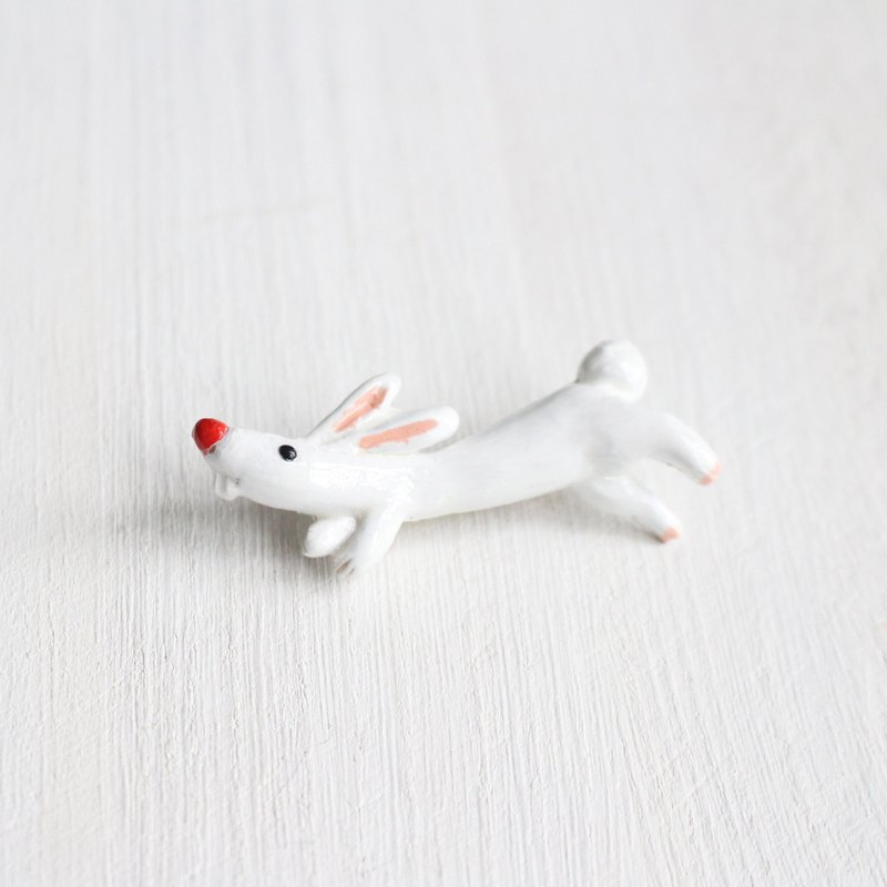 Rabbit brooch Handmade pin