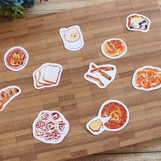 Bread stickers combination of bread / 10 account to start a sticker diary stickers