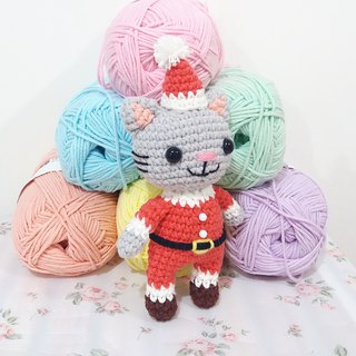 Christmas Cat Mr. Santa Cat Hand Crocheted