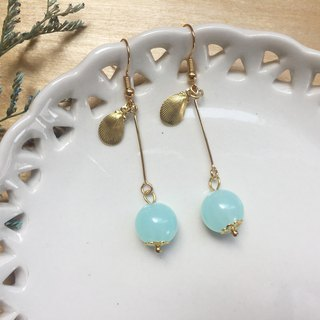 Zoe's forest Beaded Shell Drop Earrings