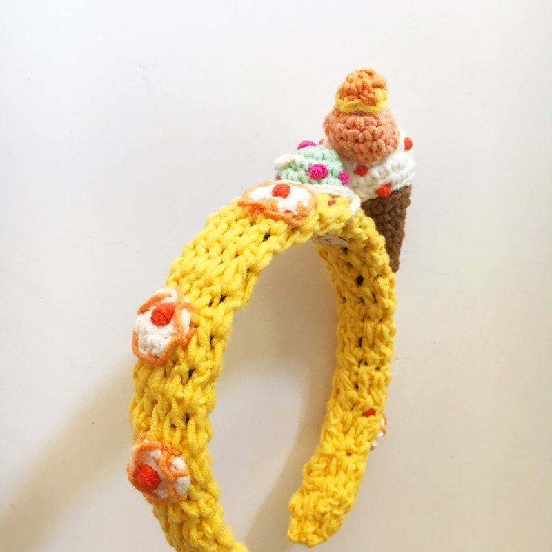 (Christmas gift exchange) Independent Original Series · Headband crocheted headbands ice cream