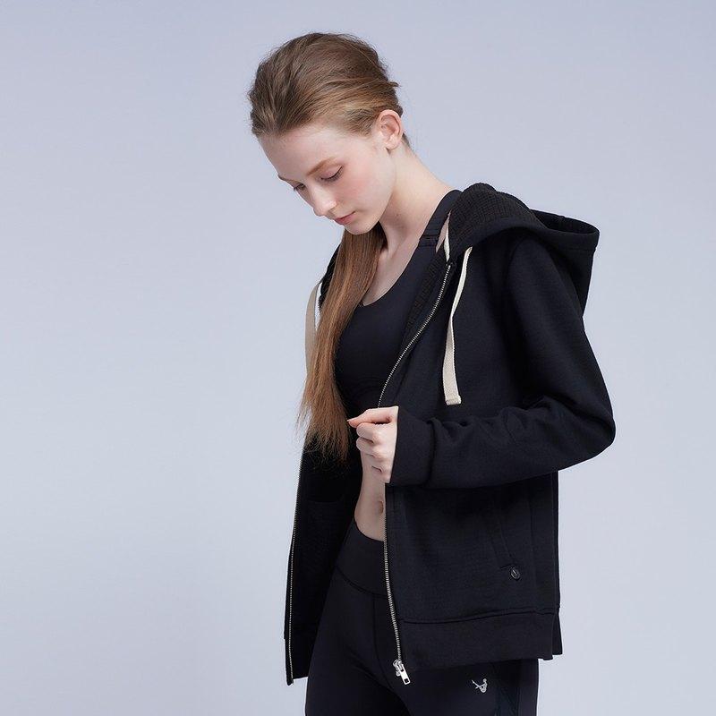 【MACACA】蓄熱保暖連帽外套 - BPE4181 黑