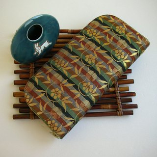 "Jingxijianjinjinjinzhi ""horizontal leaves Yezhu bamboo"" - long clip / wallet / purse / gift"