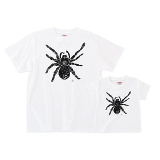 蜘蛛 spider Tarantula family t-shirt dad son 2set Men Baby Kids White White