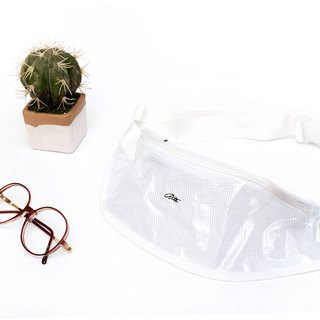 [Original price 880 listing limited edition 200] military bag with a pocket bag - grid white