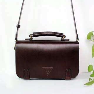 Sen retro Cambridge bag, brown messenger bag, vegetable tanned ladies bag, shoulder bag