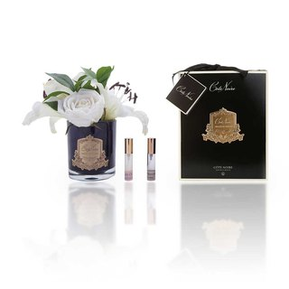 CoteNoire Fragrance Flower - Ivory White Lily Rose Fragrance Flower