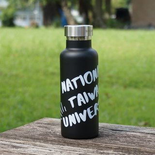 NTU stainless steel full steel cover sports thermos bottle - fog black