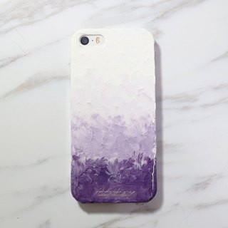 Gradient Series ll ll purple gray hand-painted oil painting style Phone Case